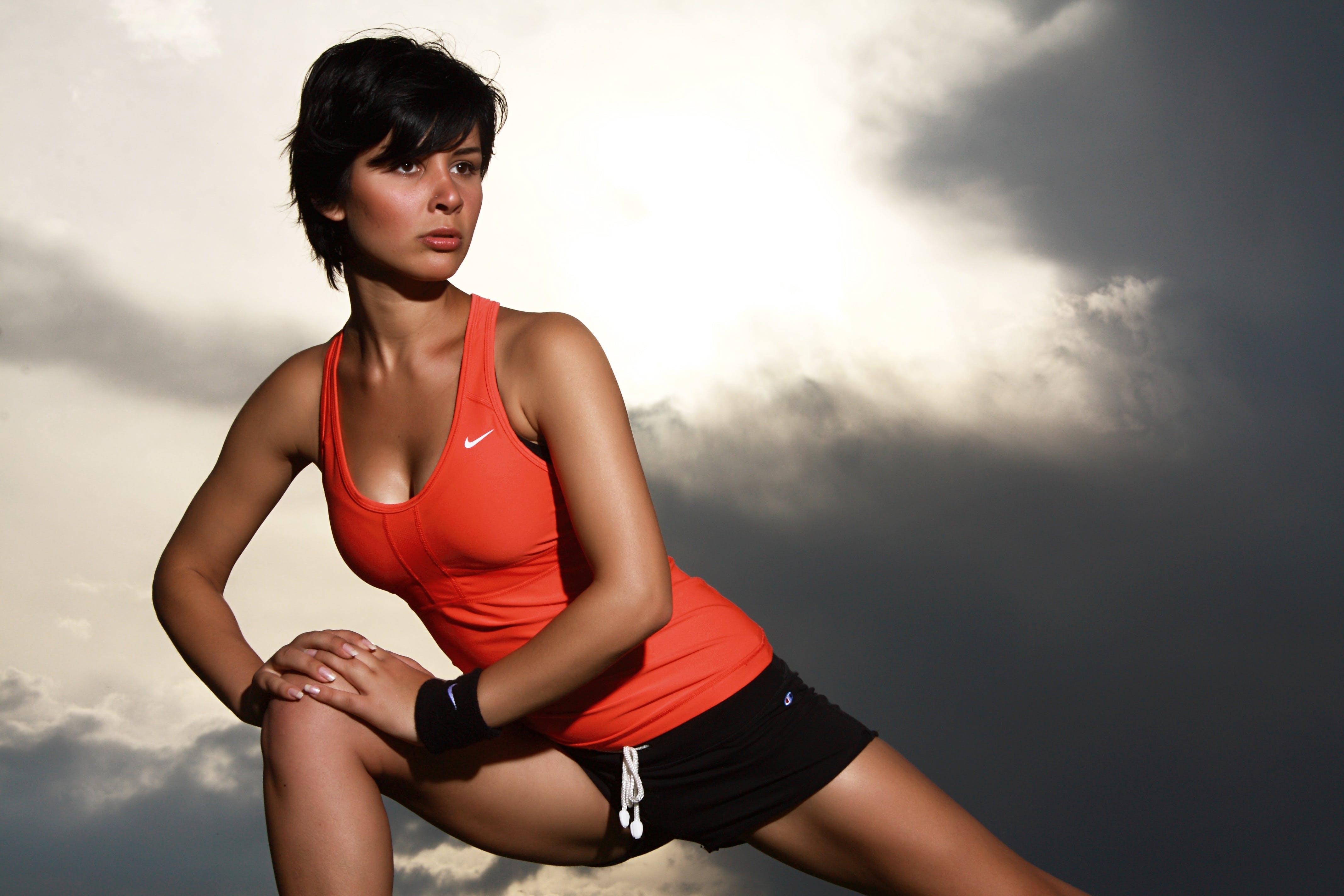 Woman Doing Leg Stretching