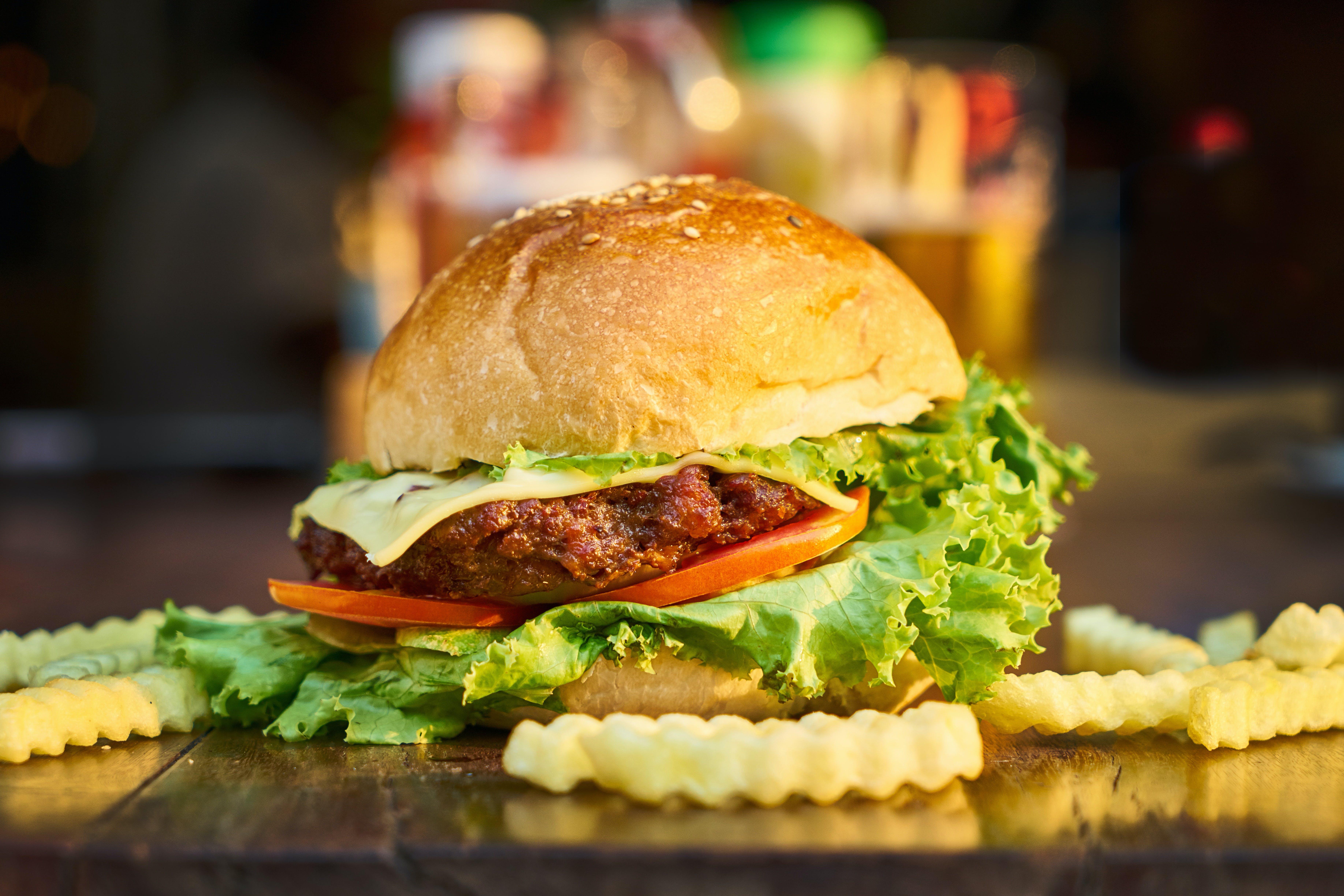 blur, burger, close-up