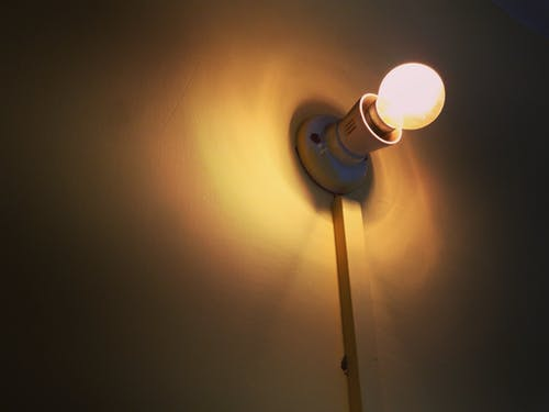 Free stock photo of brickwall, bright, bulb