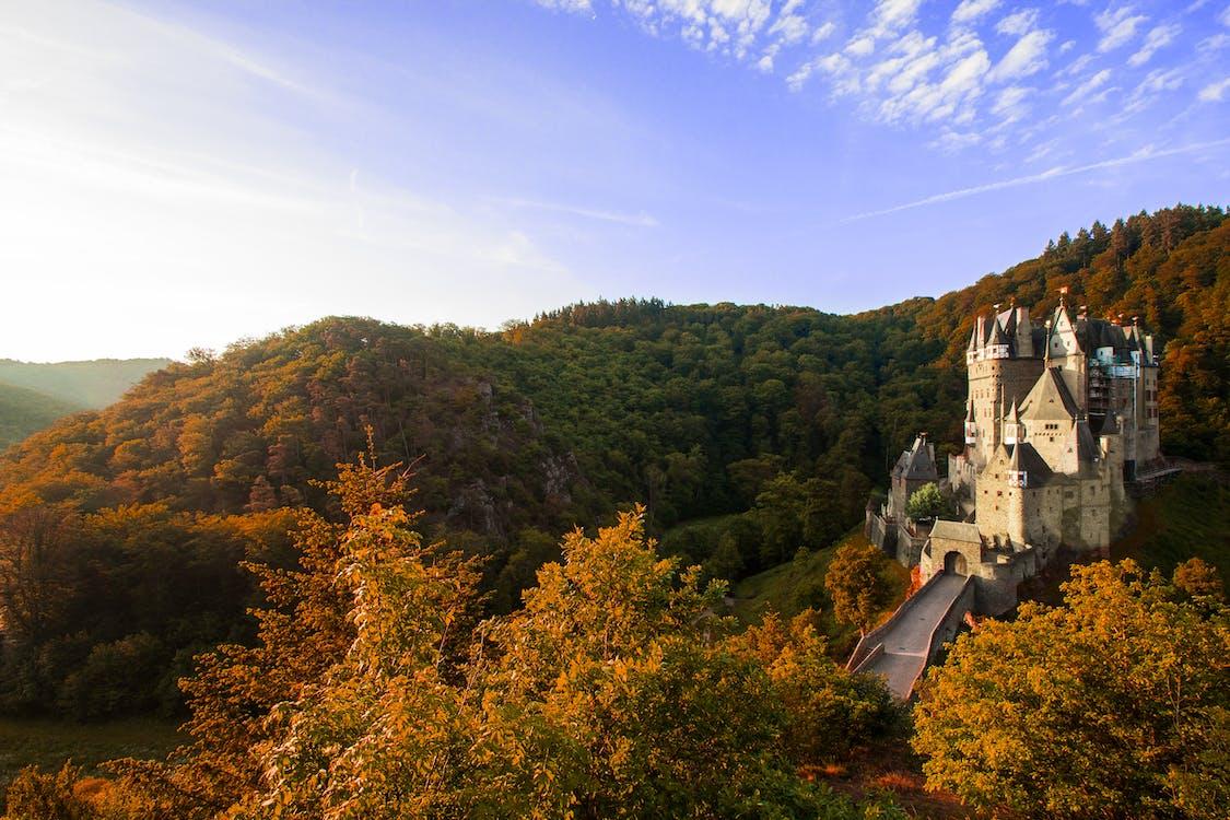 Beige Concrete Castle Under Blue Sky