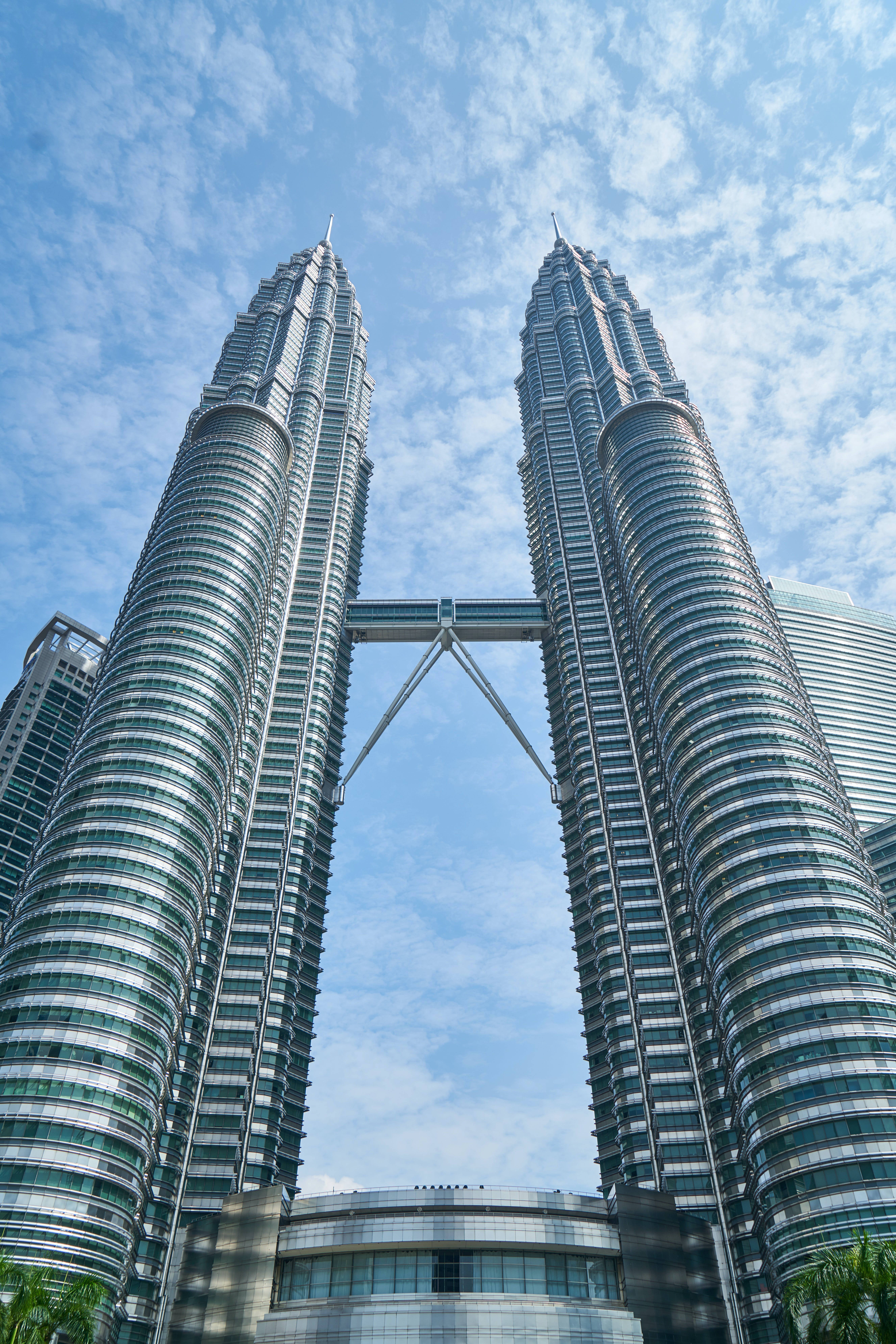 Gray Twin Tower Under Blue Sky