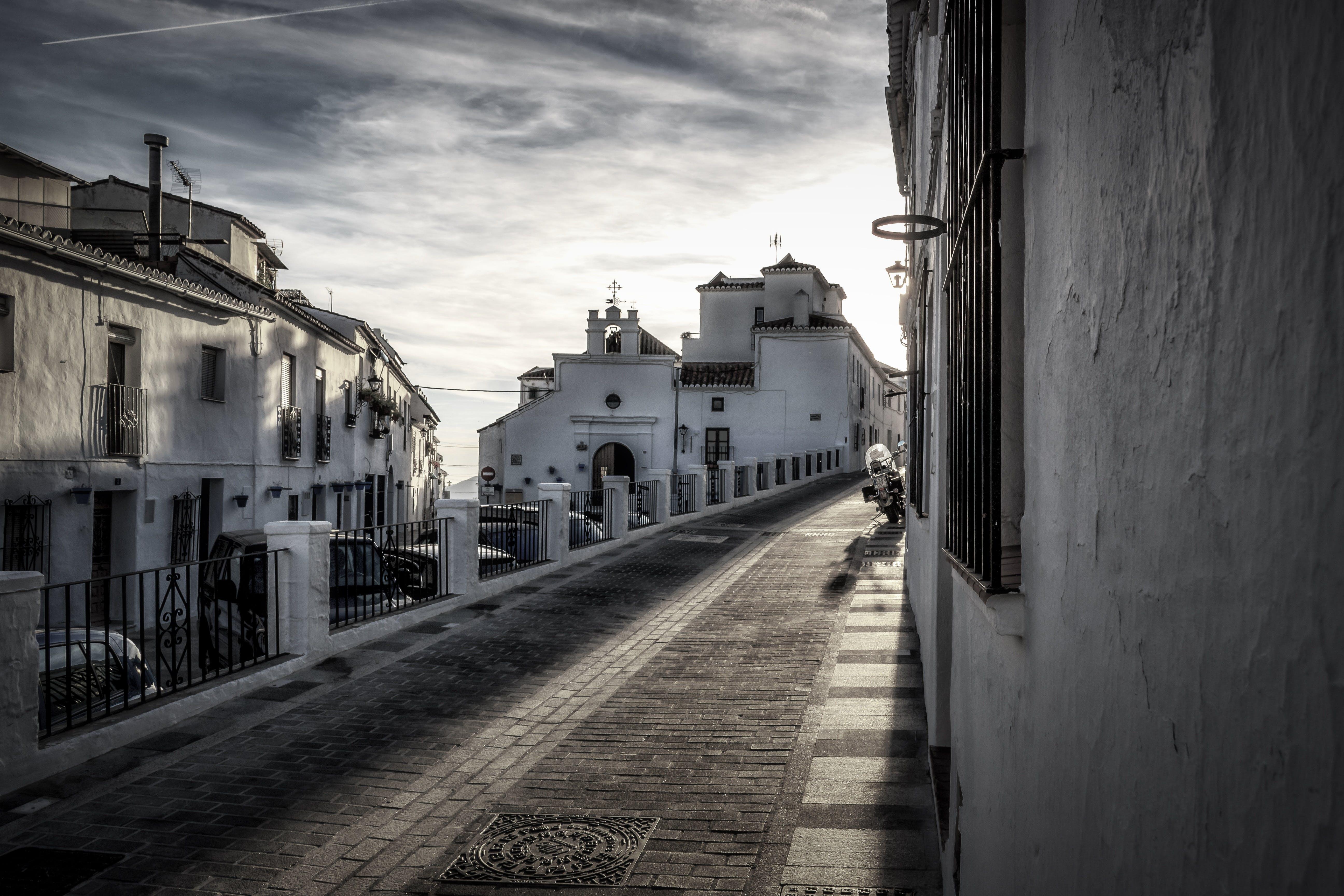 Free stock photo of sky, landmark, street, village