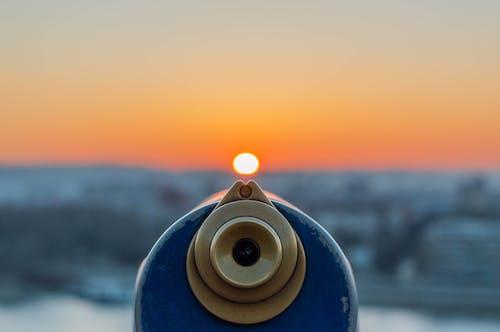 Blaues Deckteleskop