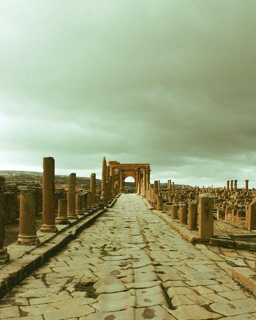 Ruins of famous ancient antique city in Algeria