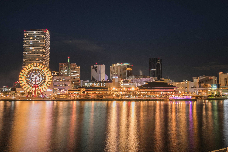 Free stock photo of city, sunset, landmark, lights