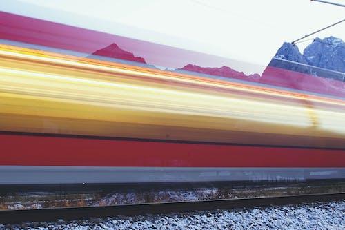 Speeding Train Time Lapse Photo