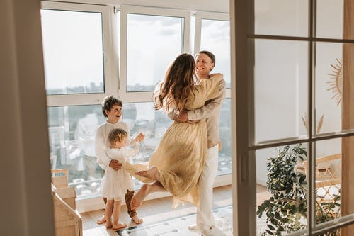 Happy Affectionate Family