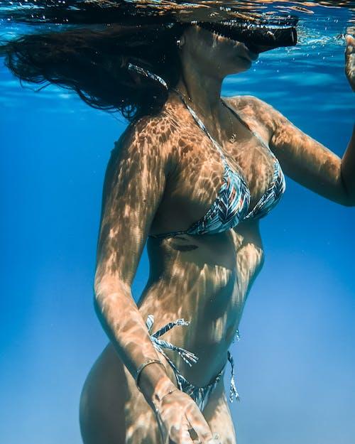 Foto profissional grátis de água, azul, azul profundo