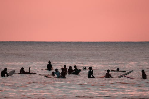 People on Sea Water