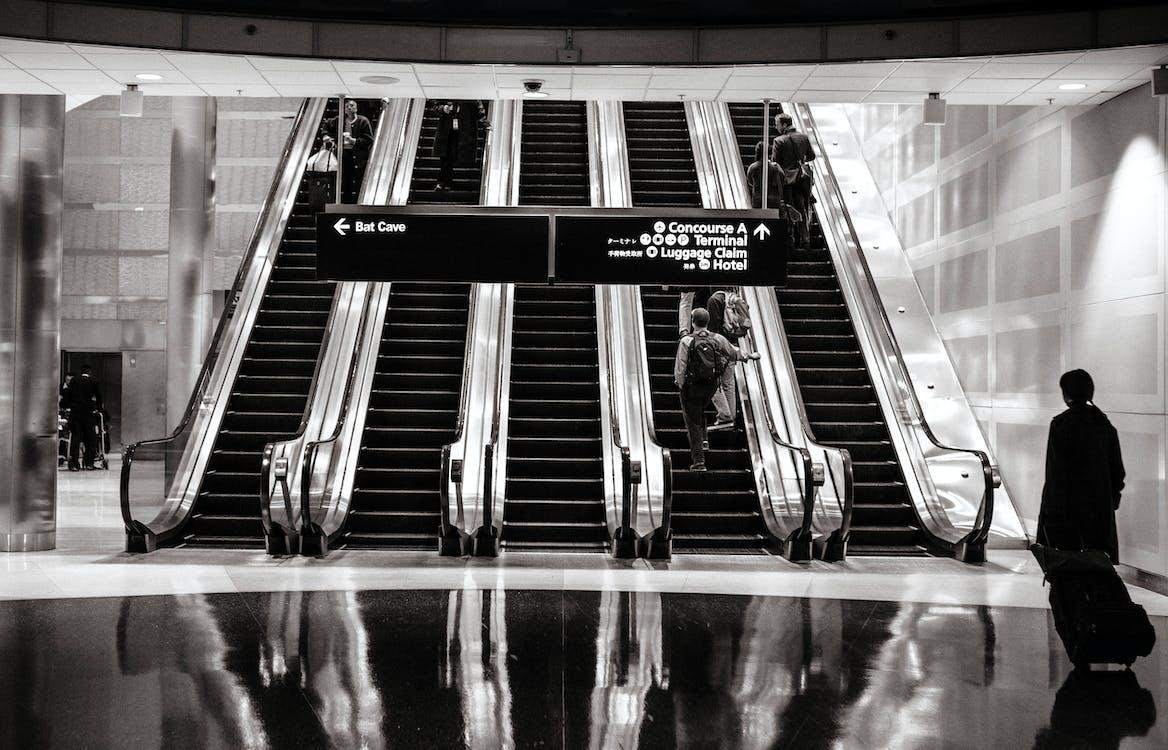 Darmowe zdjęcie z galerii z dworzec kolejowy, lotnisko, ludzie