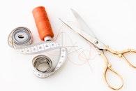 scissors, thread, sharp