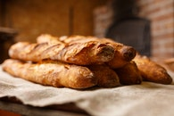 bread, blur, stack