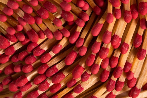 Pack of matchsticks with red heads