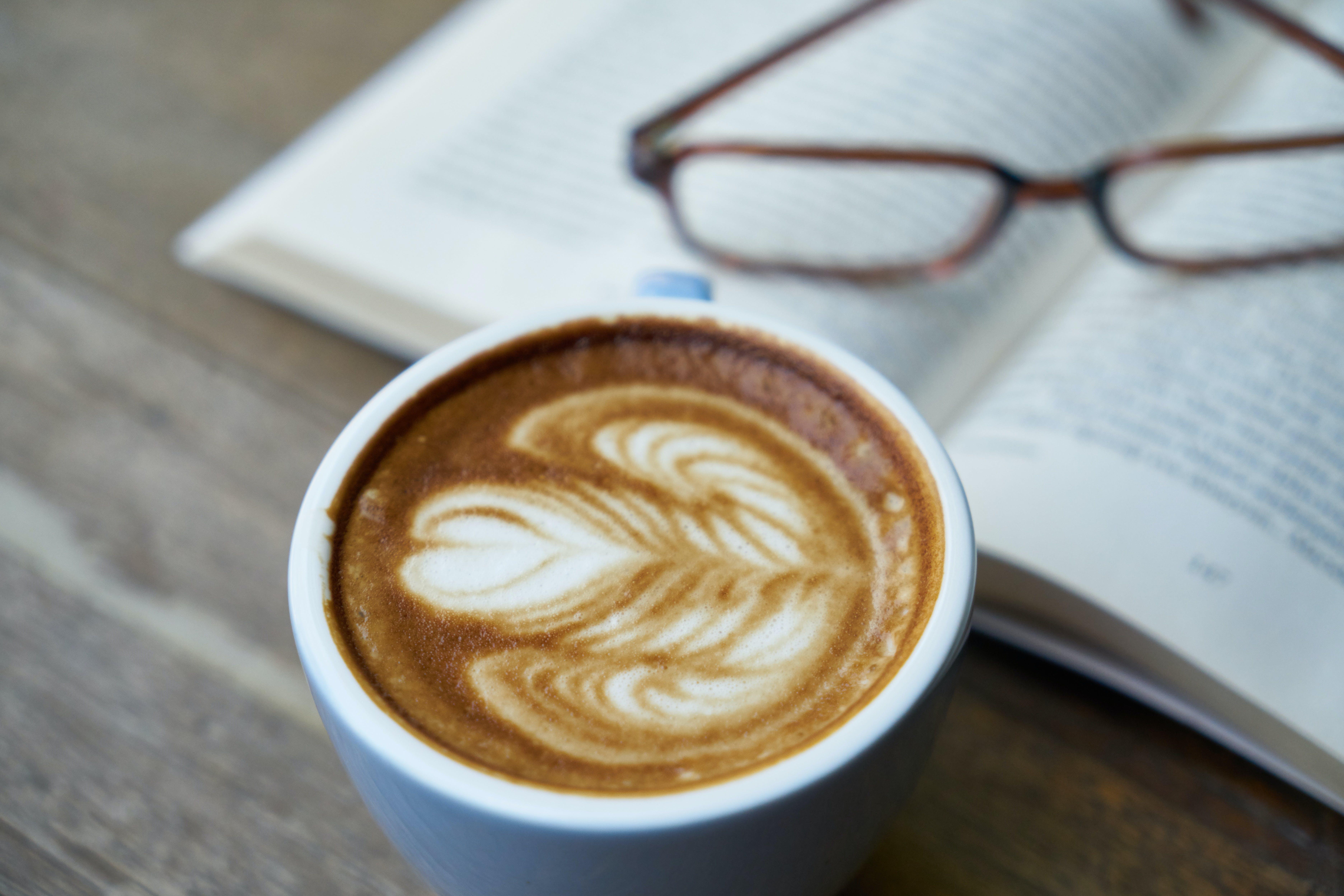 Coffee Latte in Ceramic Mug