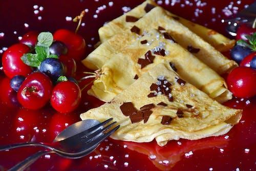 Бесплатное стоковое фото с блинчик, вишня, вкусный, еда