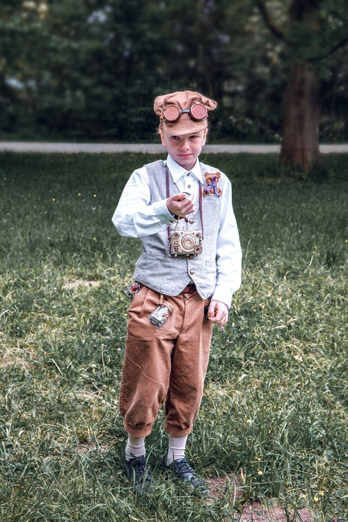 Child Wearing Steampunk Costume