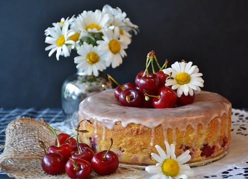 おいしい, さくらんぼ, ぼかし, ケーキの無料の写真素材