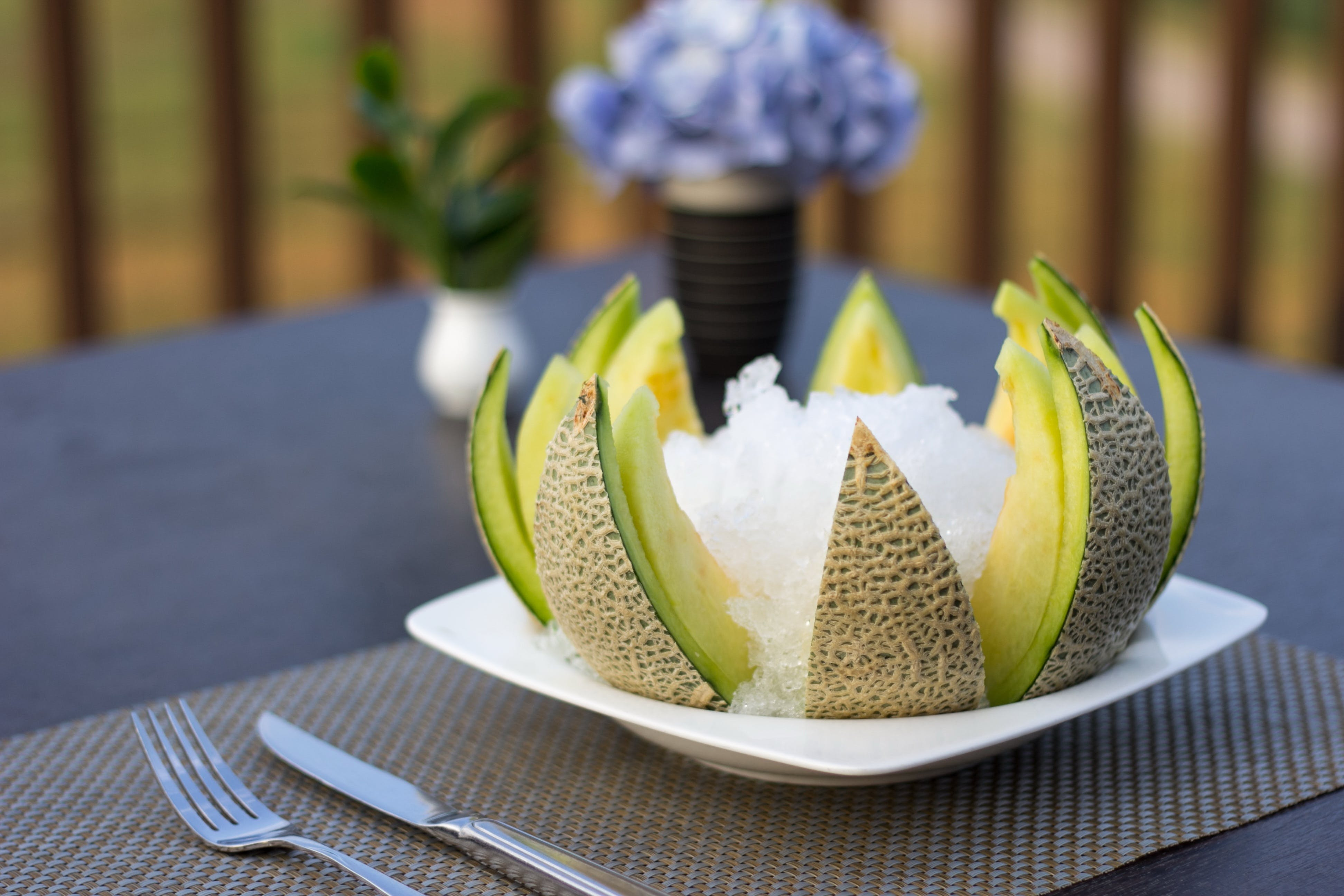 Sliced Kiwi Served in Plate