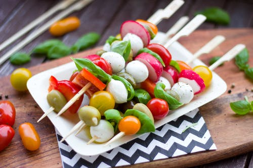 Assorted Vegetable Dishes on White Plate