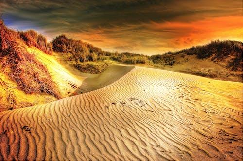 Gratis stockfoto met bewolkt, dageraad, dramatisch, duinen