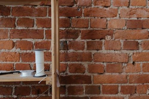 White Ceramic Mugs on Brown Wooden Shelf