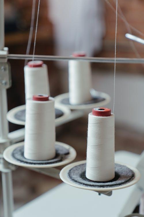 White Thread Roll on White Spool