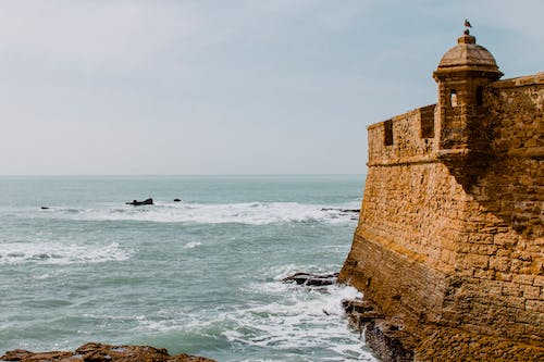 Old stone fortress above waves