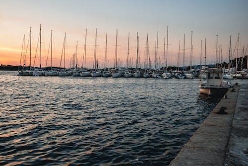 Бесплатное стоковое фото с Адриатическое море, вечер, вода, водный транспорт