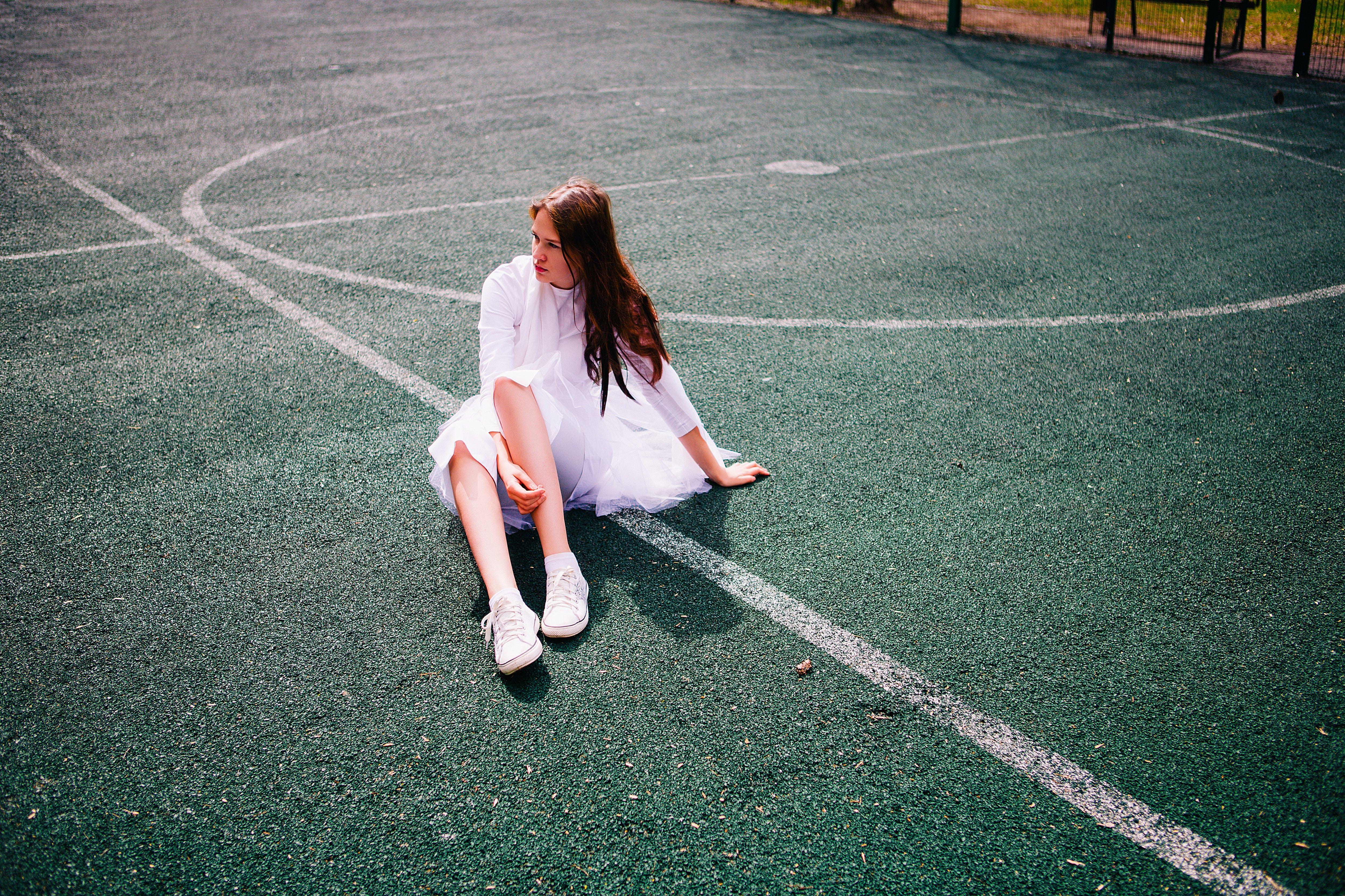 asphalt, beine, erwachsener