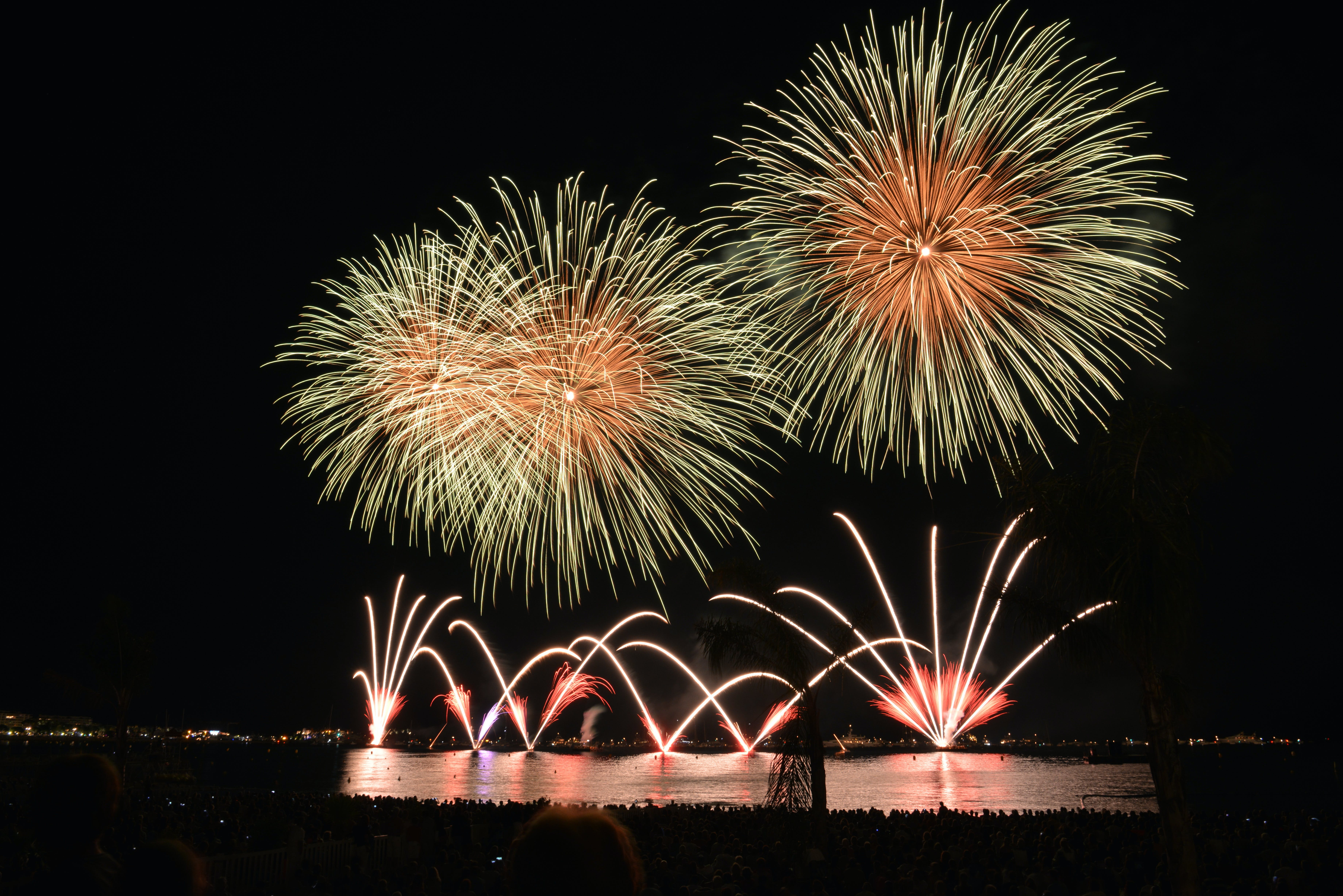 Yellow Orange and Red Fireworks during Nighttime