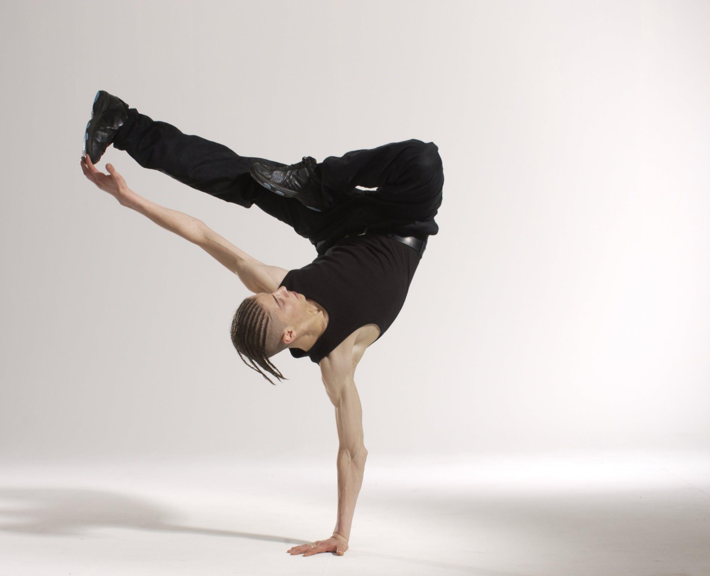 Man Break Dancing