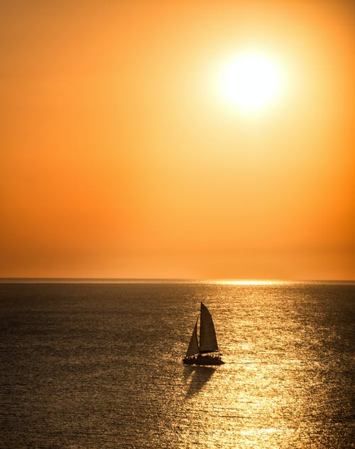 Sailboat on The Sea During Sunset
