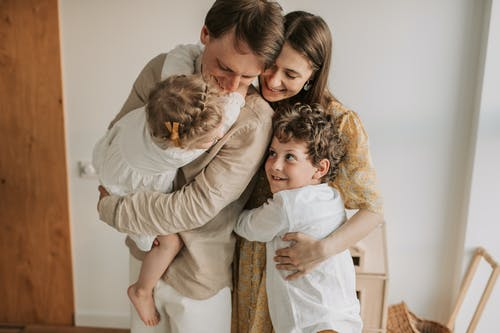 Happy Family Hugging