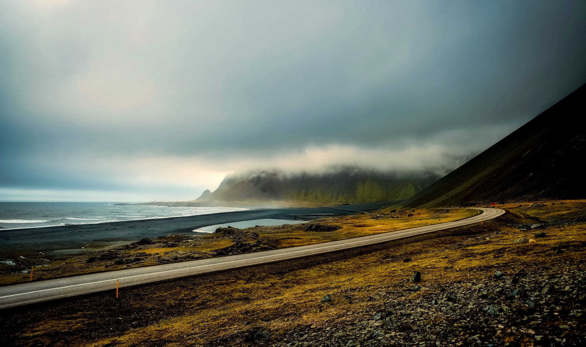 Free stock photo of iceland, light, sea, road