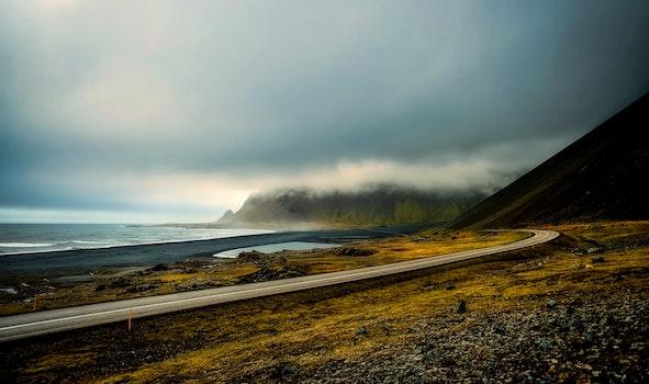Free stock photo of iceland, light, sea, road