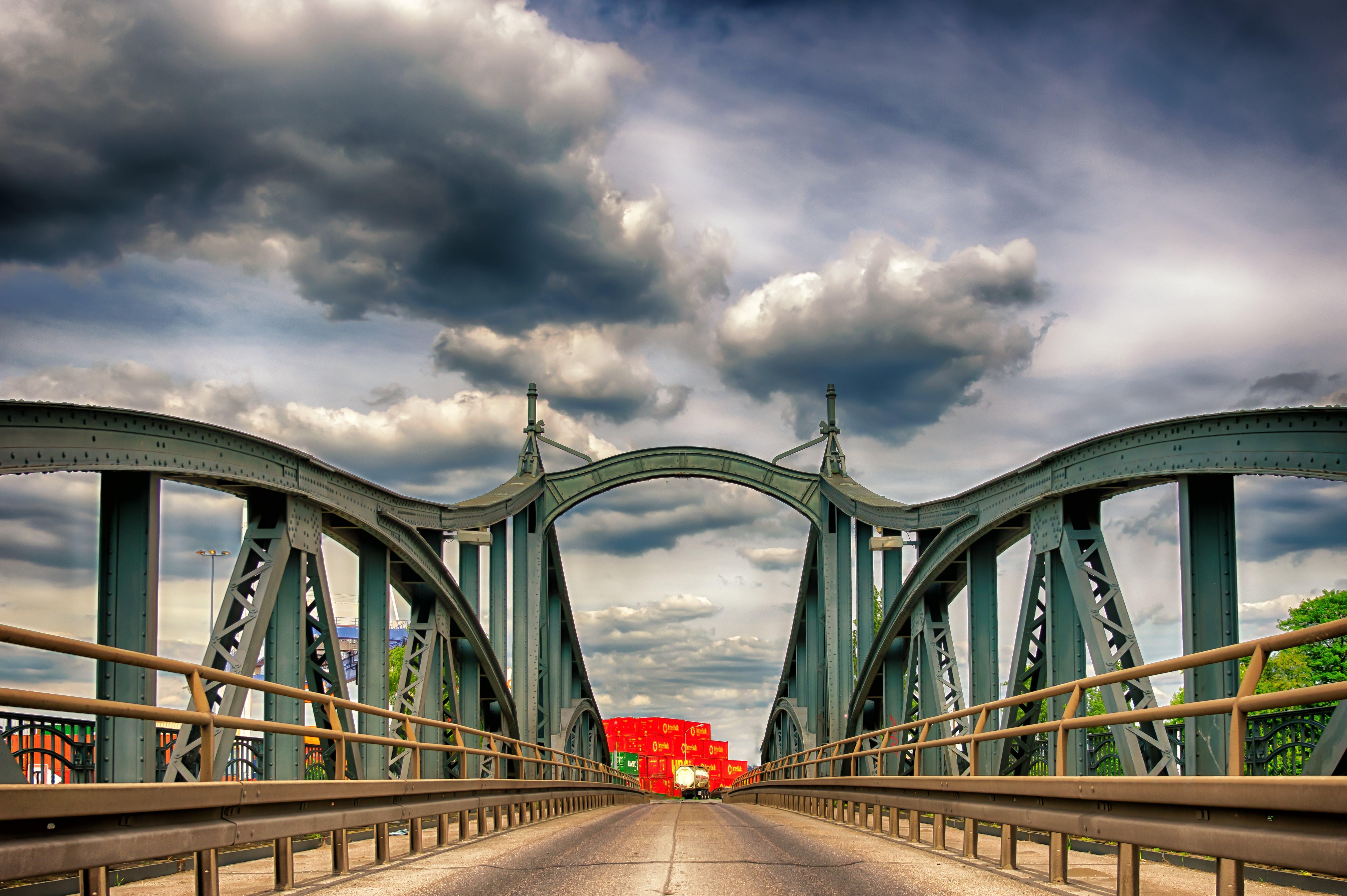 asphalt, bridge, city