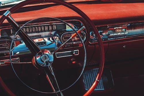 araba, cabrio, chrome, direksiyon içeren Ücretsiz stok fotoğraf