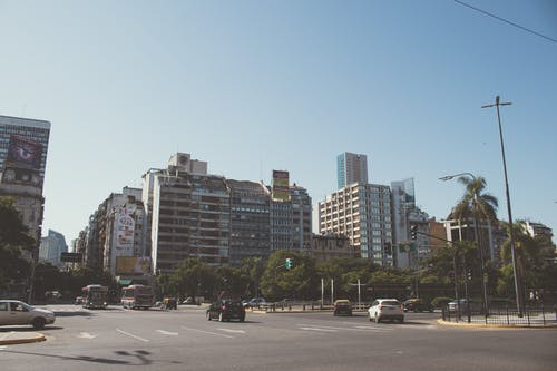 Free stock photo of blue sky, Buenos Aires, cars, city