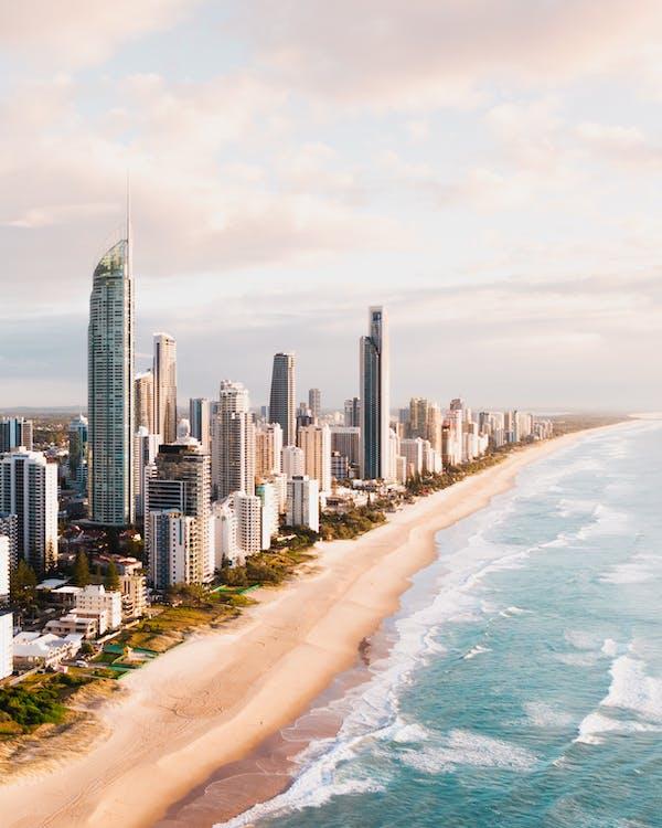 High Rise Buildings Near Sea