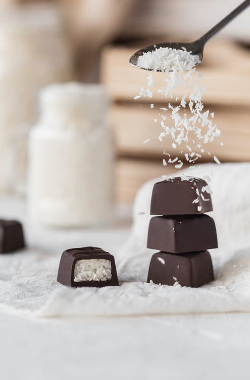 Photo Of Chocolate With Cococnut Fillings