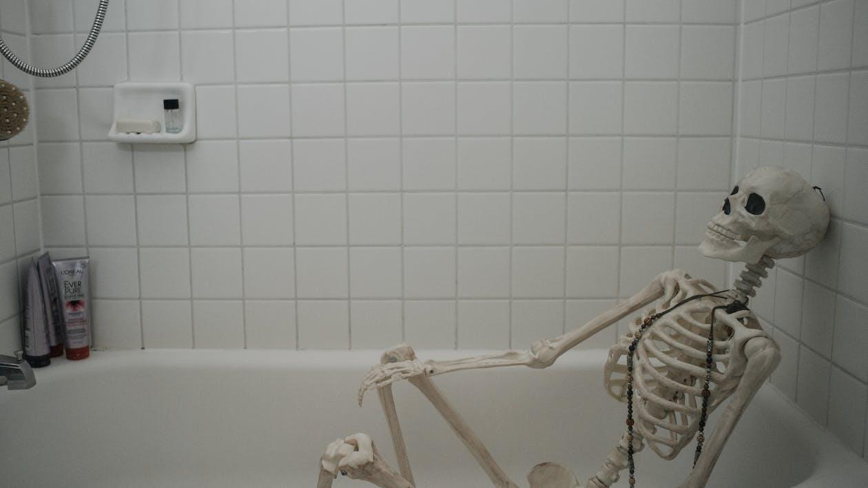 Skeleton Inside A Bathtub