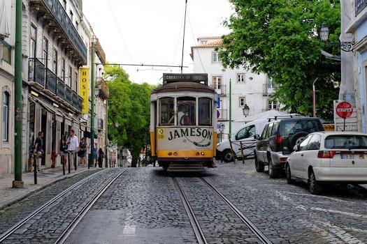 Free stock photo of road, street, tram, portugal