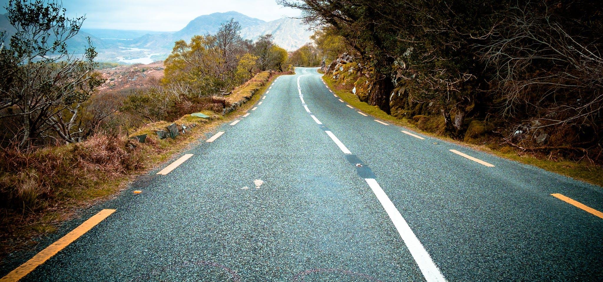 asphalt, curve, drive