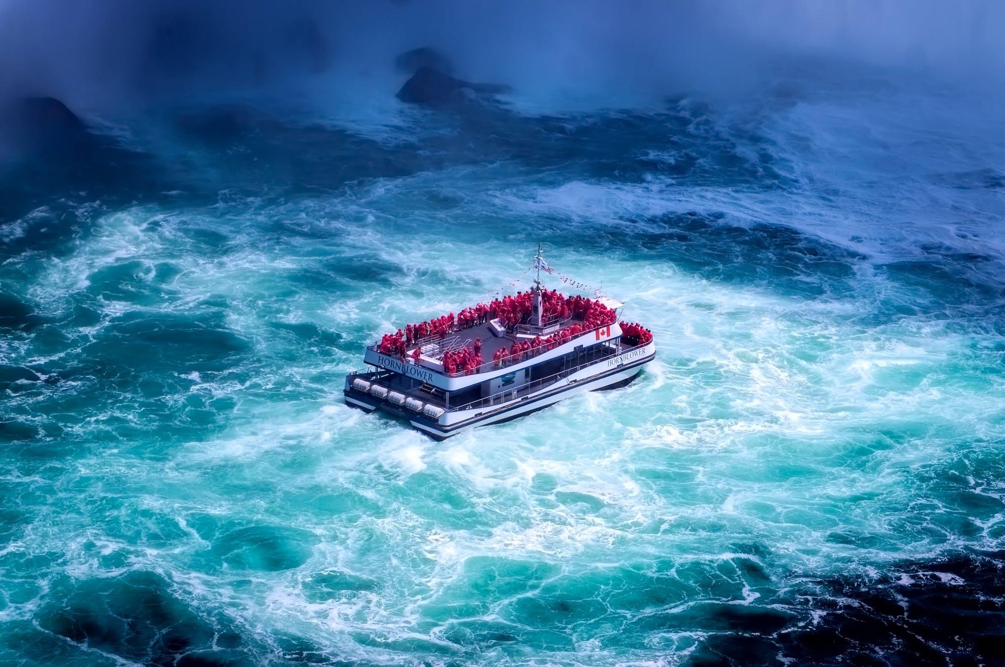White Boat Floating in the Bottom of Ocean
