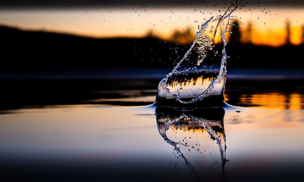 맑은, 매크로, 물
