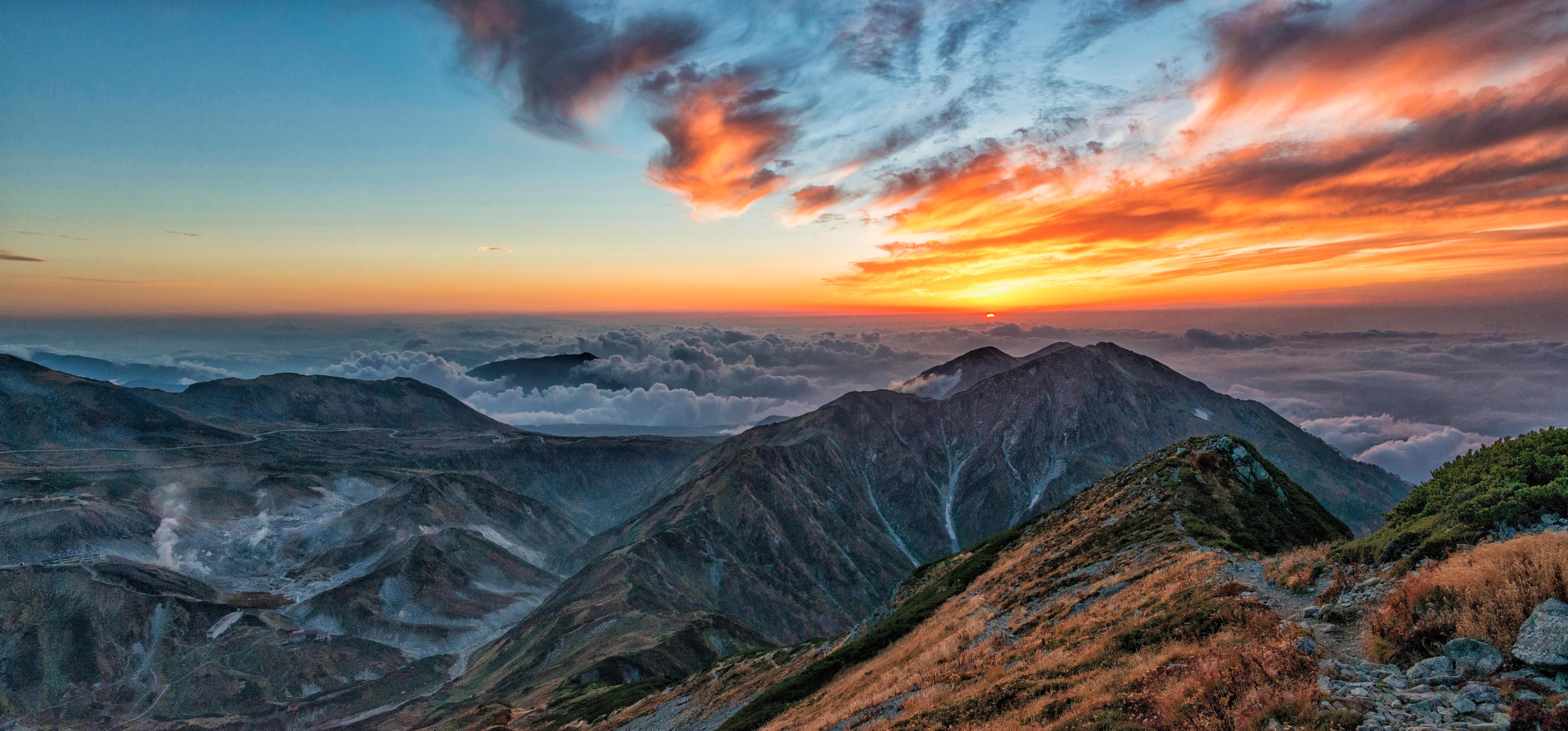 Bird's-eye View Photography of Mountains · Free Stock Photo   8192 x 3822 jpeg 6072kB