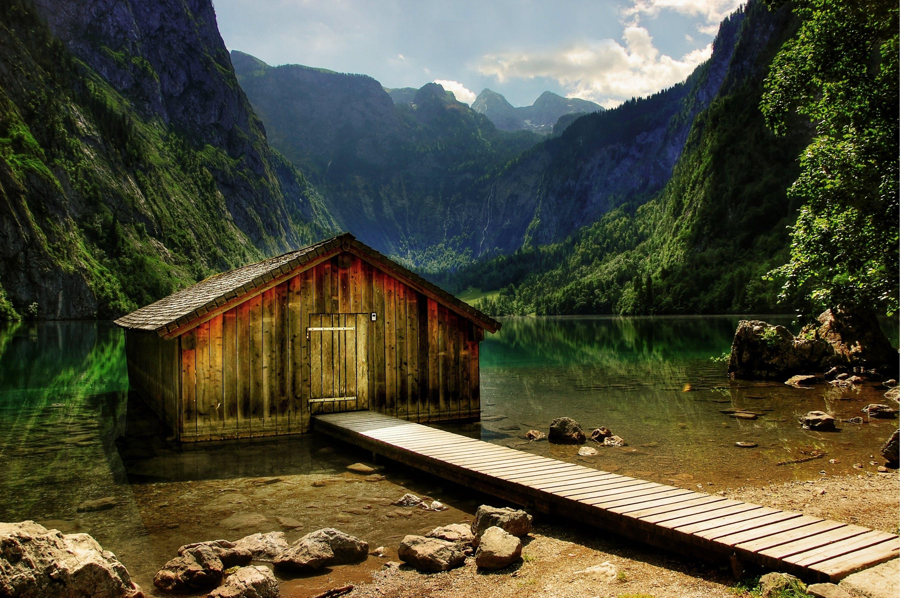 Free stock photo of wood, jetty, landscape, holiday