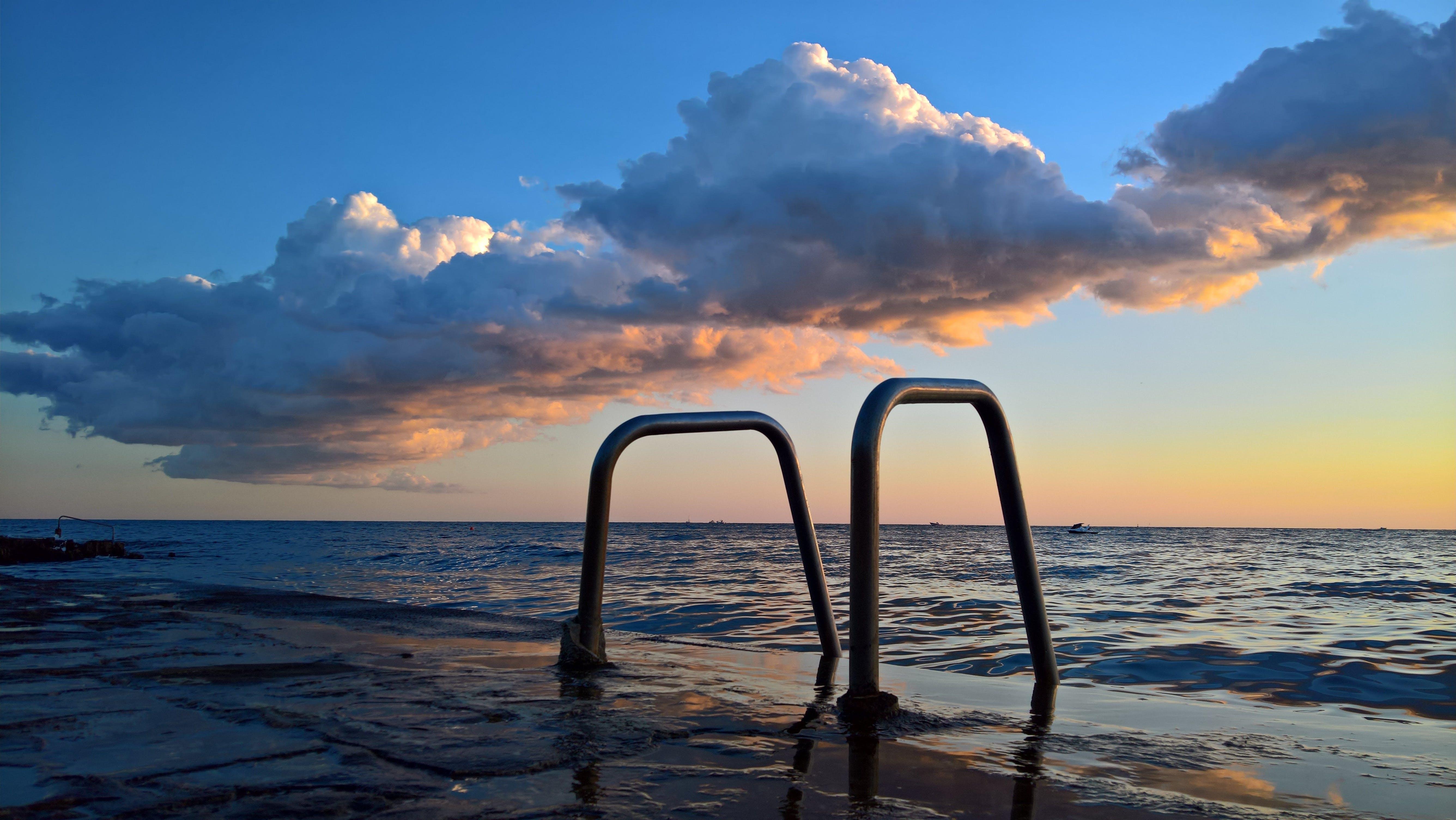 Free stock photo of sea, sunset, clouds, romance