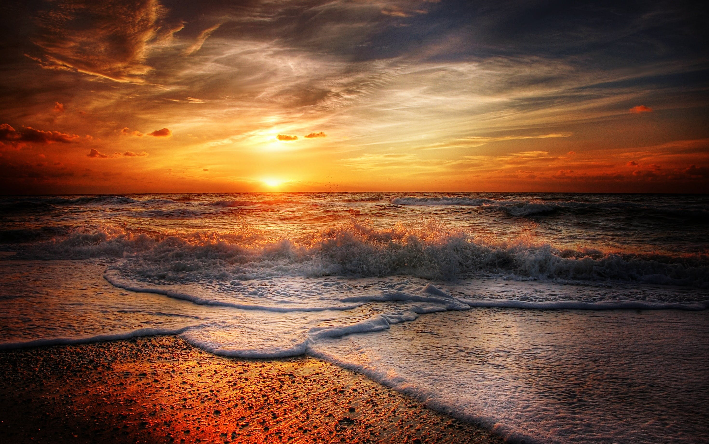 Ocean Waves during Sunset