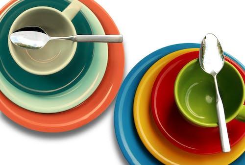 Fotobanka sbezplatnými fotkami na tému farebný, hrnček, jedlá, lyžice